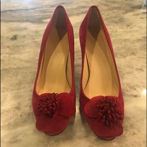 Kate spade berry colored suede heels